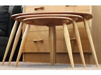 Vintage Ercol pebble nest of tables mid century refurbished excellent