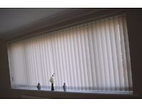 CREAM COLOURED VERTICAL BLINDS, VERY GOOD CONDITION.
