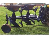 2 furrow hydraulic reversible tractor plough implement farm farming