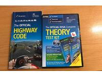 Theory disc and official Highway Code.
