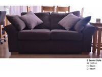 2 Dark Mink Sofas - Next Furniture Garda Range