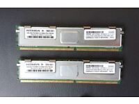 2x 4GB DDR2 PC2-5300 ECC Fully Buffered Server Ram GR4GF35T2564-667IQ-HP6J