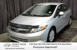 2012 Honda Civic LX W/ KEYLESS ENTRY, BLUETOOTH!