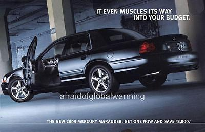 Old Print.  2003 Mercury Marauder - Automobile