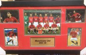 Framed Man Utd 2008-09 Winning Team
