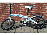 Sportsman Folding Bike, 20inch wheels, 6-speed Shimano Gears, Sprung Gel Saddle, Used once as new.