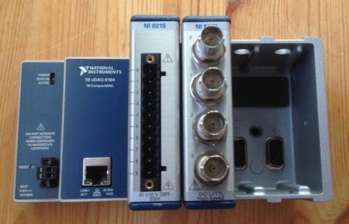 National Instruments NI cDAQ-9184 w/ NI-9402 NI-9215