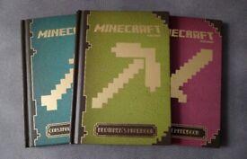 Set of 3 Minecraft Handbooks (Hardback user guides for Beginner/Combat/Construction)