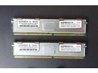 2x4GB PC2-5300 DDR2 ECC Fully Buffered Server Ram