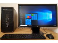 "High Spec HP Intel Core i3-4150 PC Setup,6GB DDR3 RAM+23""IPS LED,Wifi,win 10 64 Bit Desktop/Computer"