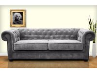CHESTERFIELD SOFA SETS**50% OFF RRP***SOFA**SOFA BED OPTION**LEATHER**CHENNILLE FABRIC**UK DELIVERY