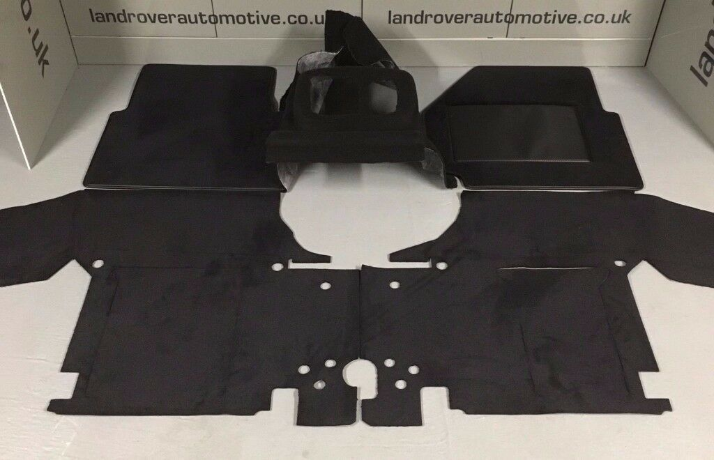 LAND ROVER DEFENDER 90/110 CARPET MATS SET FRONT TDCI PUMA GENUINE NEW PREMIUM
