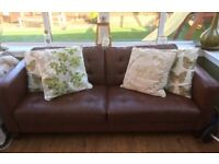 Brown leather sofa-excellent condition!