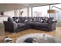 **GREY BLACK OR BROWN BEIGE** New SHANNON Corner Or 3 + 2 Sofa, SWIVEL CHAIRS, Universal corner Sofa