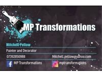 Painter, decorator, painting and decorating, paint, builder, gardener, landscape, MP Transformations