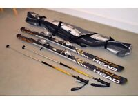Head skis c210si poles and carry bag