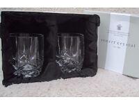 """2 Stuart Crystal HAMPTON Tumbler Glass 3 1/2"""""""