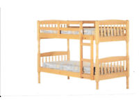Nearly new Pine bunk beds with matresses