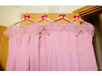 Beautiful dusky pink size 14 bridesmaid dress by the designer 'Special Day'