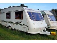 ELDDIS TYPHOON 2001 4 BERTH Caravan - FULL SIZE BATHROOM and AWNING