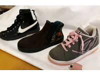 Heelies, Desigual and Nike boots
