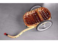 CarryFreedom Wooden bike trailer with detachable basket