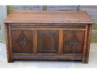 Jaycee Furniture vintage oak blanket box/chest