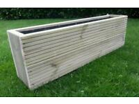 Planter, large, deep 1 meter, planter. Ideal width to sit on garden wall or patio. Brand new