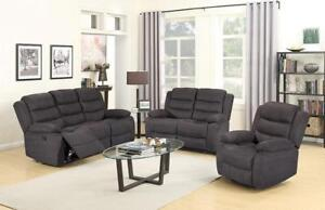 """Moving Sale"" Brand New 3pcs  2 Recliners Sofa,2 Recliners Love-seat & Recliner Chair Set $999 Only"