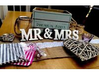 Vintage/Shabby Chic Wedding Decorations/Items. Bundle/Job Lot (Milton Keynes)