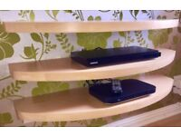 Solid beech wood floating shelves. Custom made.