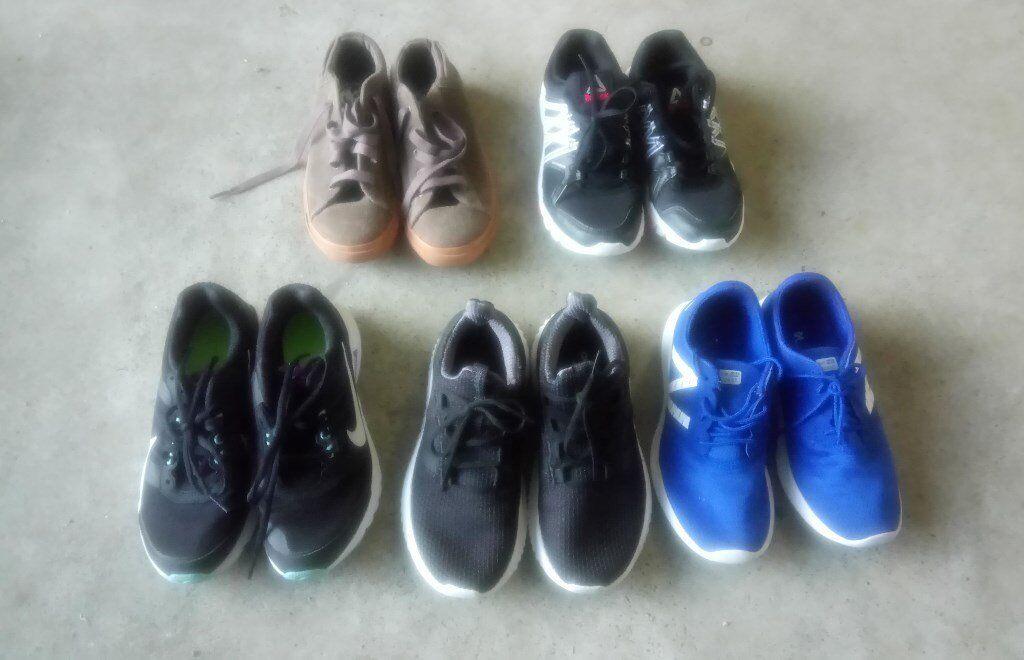 Job lot of 5 pairs Women's/Girls Trainers: Nike, Adidas, Diesel, New  Balance and Reebok
