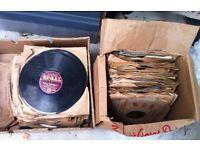 Job lot of 78s records