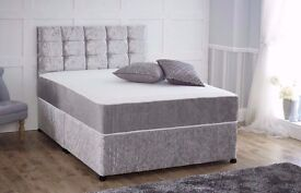 brand new crushed velvet double bed