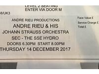 Andre Rieu tickets Thursday 14th Dec SSE hydro