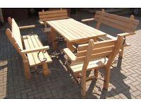 Oak garden furniture set