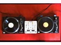 Soundlab Turntables / DJ Decks and Gemini DJ Mixer