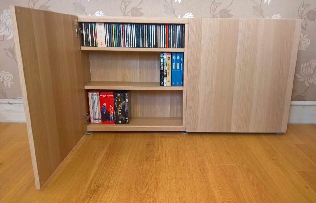 Ikea Besta Dvd Cd Storage Unit In Bramley West