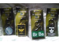 Set of 4 Breaking Bad Keyrings