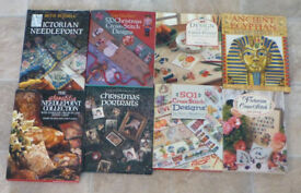 Assorted Cross Stitch and Needlepoint Books