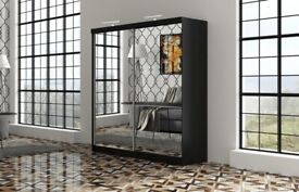 💕❣HUGE MAGA SALL BRAND NEW QUEEN SLIDING MIROR WARDROBE AVAILABLE IN STOCK 💗