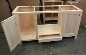 Solid pine Oven Housing Unit with 2 doors + drawer