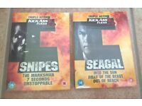 NEW DVD's sealed in cellophane - 3 films on each