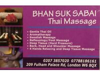 FULL BODY MASSAGE: Thai, Swedish, Aromatherapy,Deep Tissue Foot& massage in Hammersmith and Fulham.
