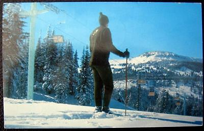 BRIAN HEAD SKI RESORT UTAH ~1960's SKI SKIING ~ DOUBLE CHAIR LIFT ~ SKIER