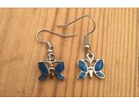 Pretty butterfly tibetan silver earrings £3 per pair. Can post or collect from Tqy