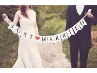 JUST MARRIED - Suitable for Photos or Venue Setting Up /Wedding Present/Wedding Supplies