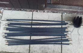 Chimney Brush and Rods 12Metres Length in Total - As New.