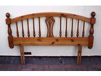 Double Bed Pine Headboard 4ft 6in Ducal
