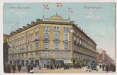 Crowne Plaza Hotel (DENMARK Old postcard Crowne Plaza Hotel Cosmopolite To Paris Year: 1909)
